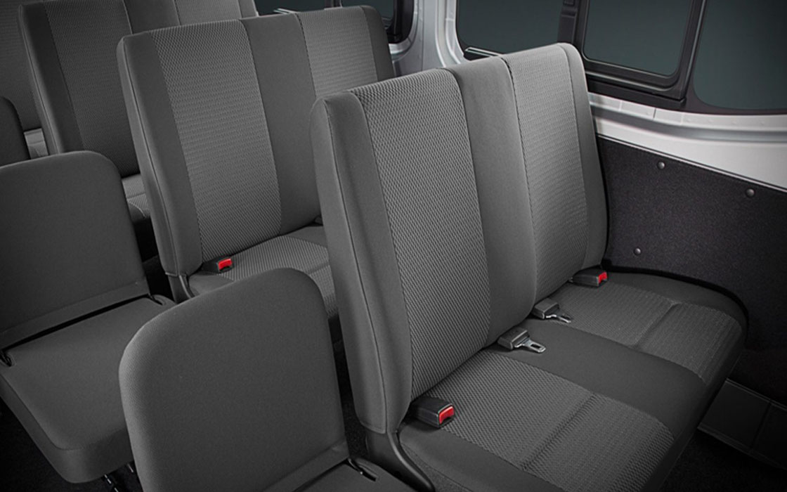 Nissan NV350 backseats I Rent-A-Car Palawan