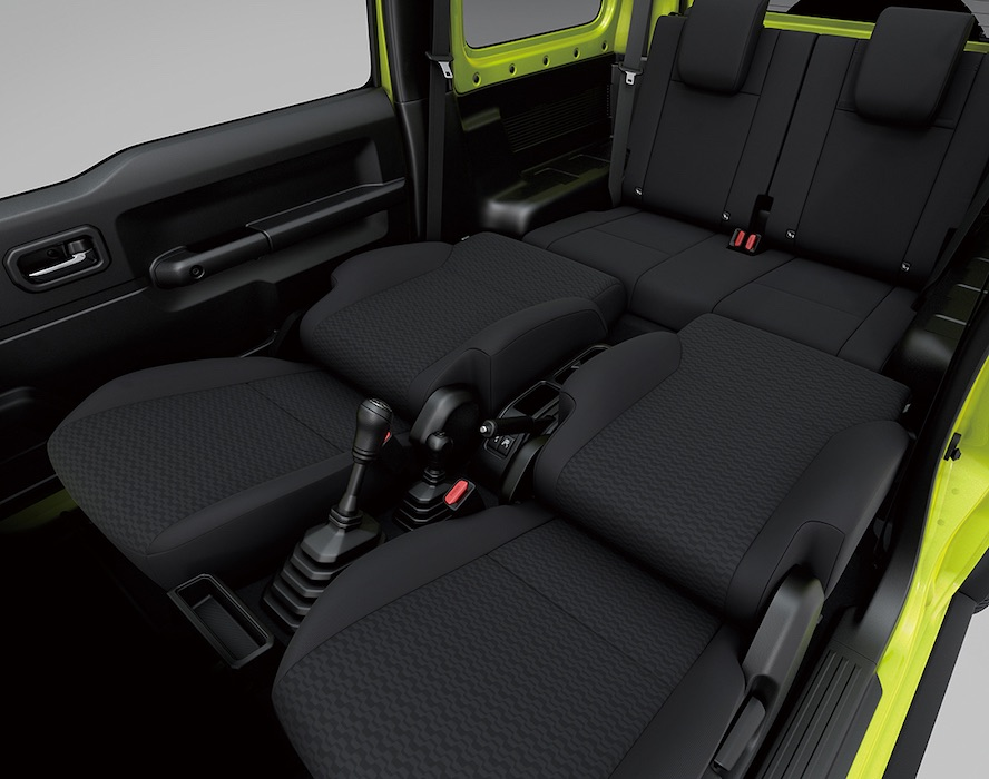 Retractable Seats of the Suzuki Jimny