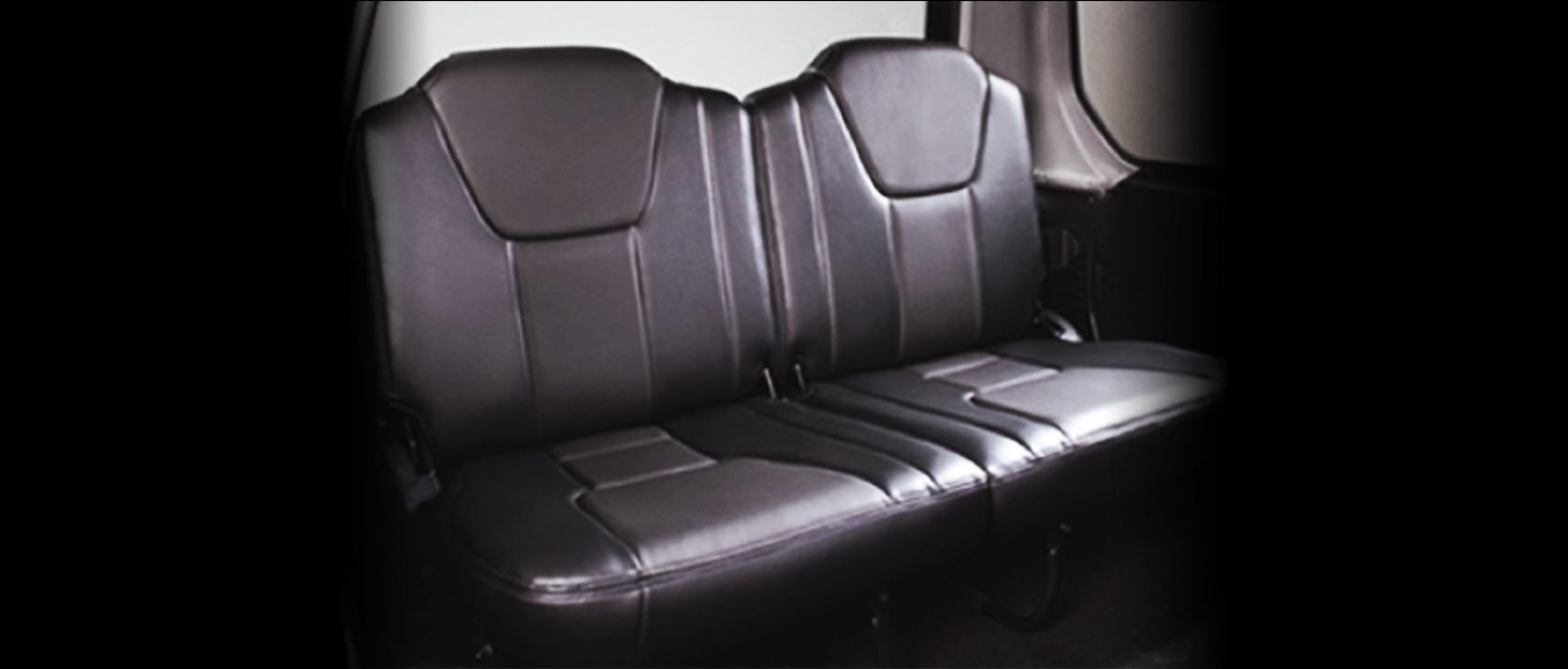 Mitsubishi Adventure View of the Back Seats | Rent-A-Car Palawan