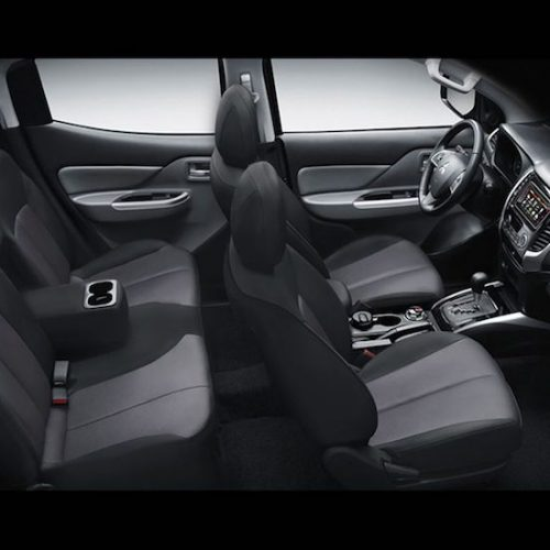 Mitsubishi Strada Interior - Five-Seater | Rent A Car Palawan