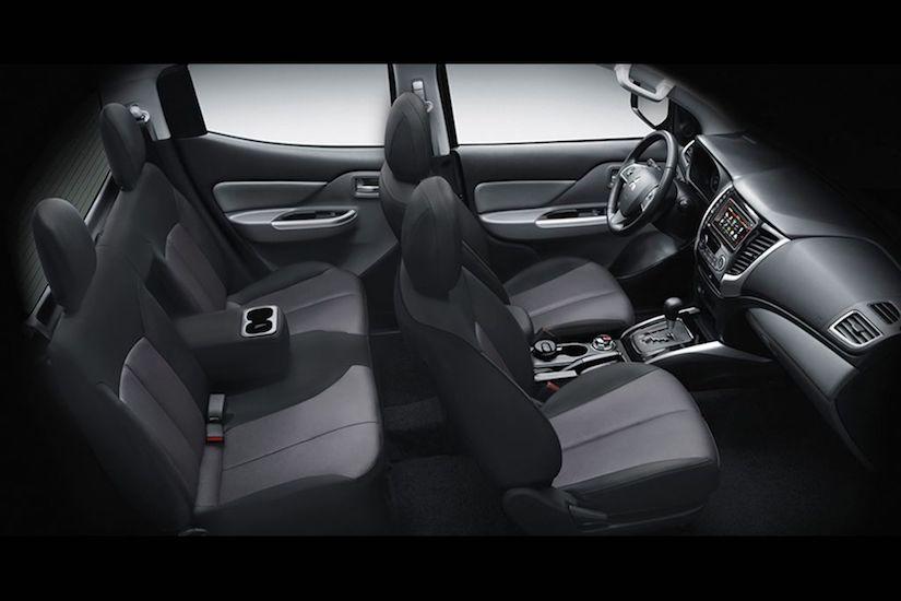 Mitsubishi Strada Interior - Five-Seater |Rent A Car Palawan