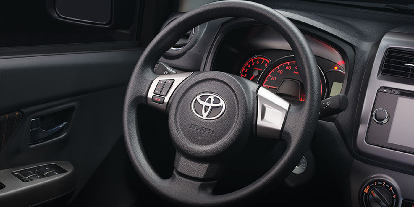 toyota-wigo-steering-wheel | Rent-A-Car Palawan